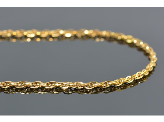 S0997 Jemný řetízek z chirurgické oceli GOLD 45/0,2 cm
