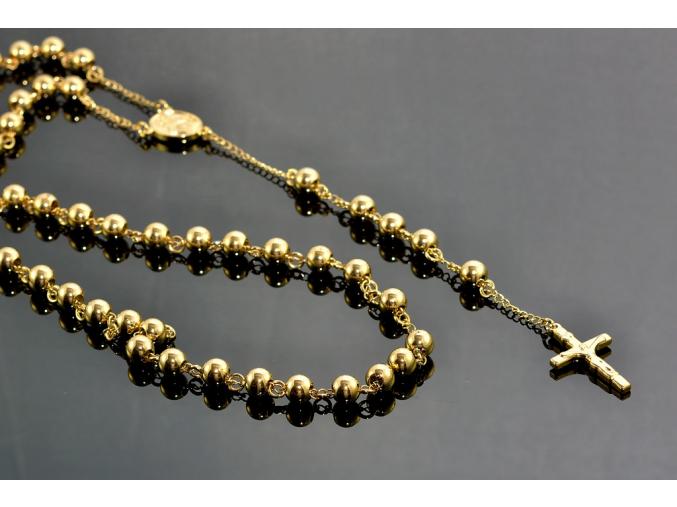S1112 Růženec GOLD z chirurgické oceli