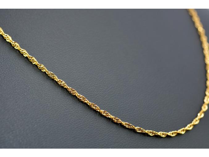 S1199 Jemný řetízek z chirurgické oceli GOLD 45/0,2 cm