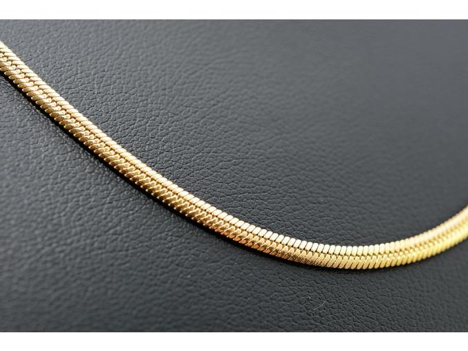 S1625 Plochý hladký řetízek GOLD z chirurgické oceli 59/0,3cm