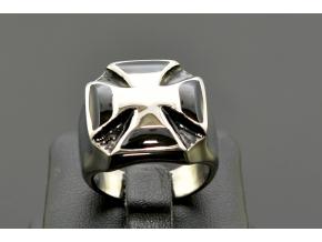 S1355 Masivní prsten KŘÍŽ z chirurgické oceli