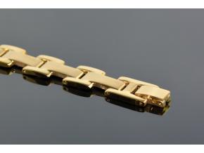 S1334 Náramek z chirurgické oceli GOLD 21,5/1,2cm