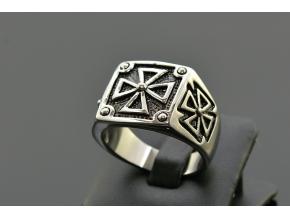 S1499 Pánský masivní prsten KŘÍŽ
