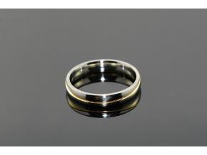 S1668 Prstýnek z chirurgické oceli SILVER/GOLD