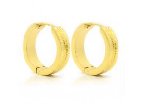 S2684 Náušnice kroužky GOLD 2 cm