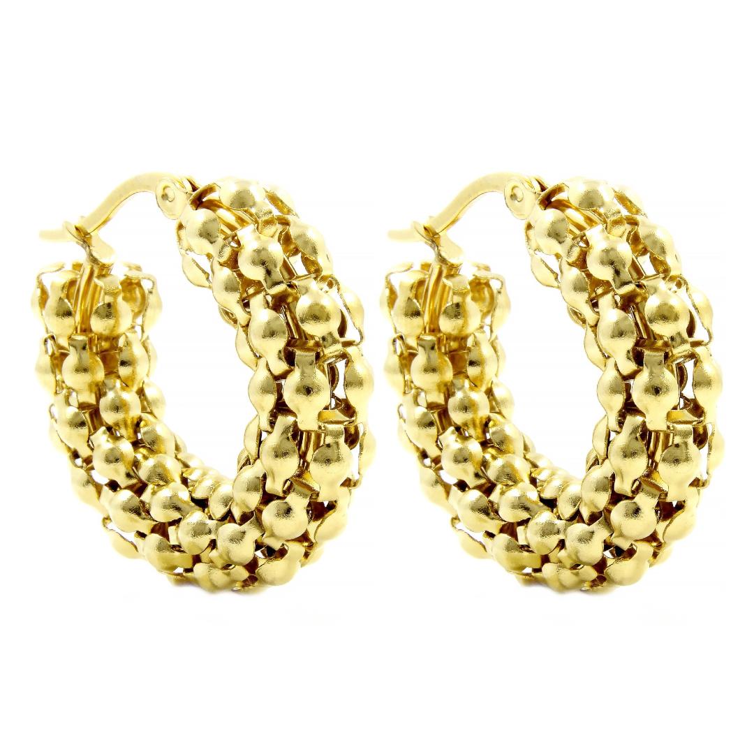 S2551 Náušnice KROUŽKY 3 cm - GOLD